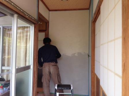壁塗り 1