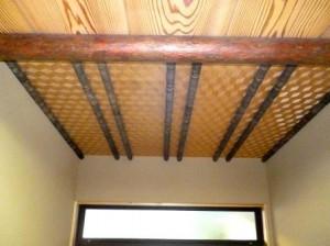 玄関 網代天井 1