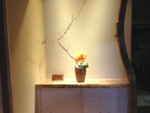 飾り棚 生け花