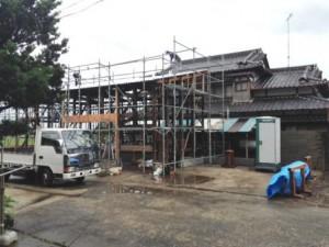 小屋 屋根工事 2