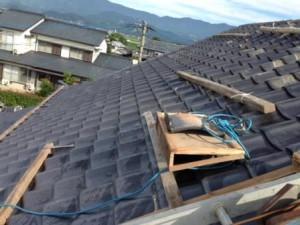 屋根工事中3