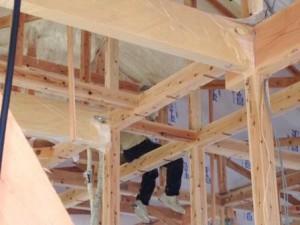 屋根断熱工事1