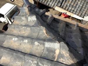 屋根 工事中1