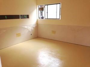 厨房 塗装床 仕上がり 2