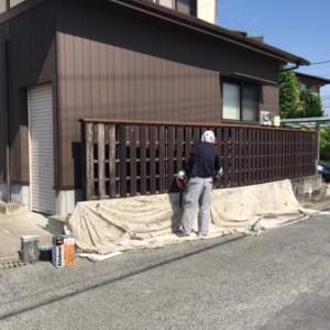 塀 塗装工事2