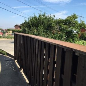 塀 木工事 完了1